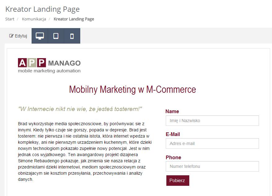 Silnik rekomendacji eCommerce NextGen SALESmanago Marketing Automation - mechanizm next best offer